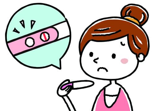 不妊に悩む女性のイラスト