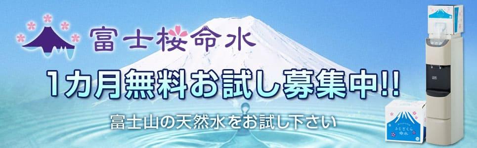 富士桜命水のお試しプランについて